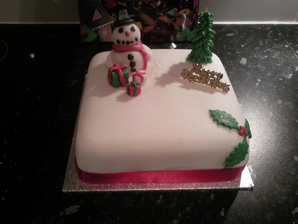 christmas-snowman-cake