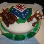 Australian themed cake with Kangaroo and Koala bear